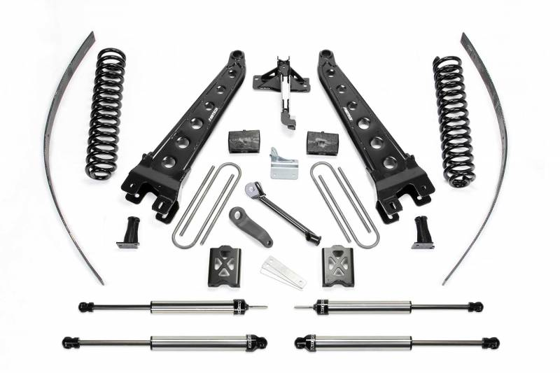 "Fabtech 2005-2007 FORD F-250 4WD 8"" RAD ARM System Without Factory Overload Coils DLSS Shocks K2015DL"