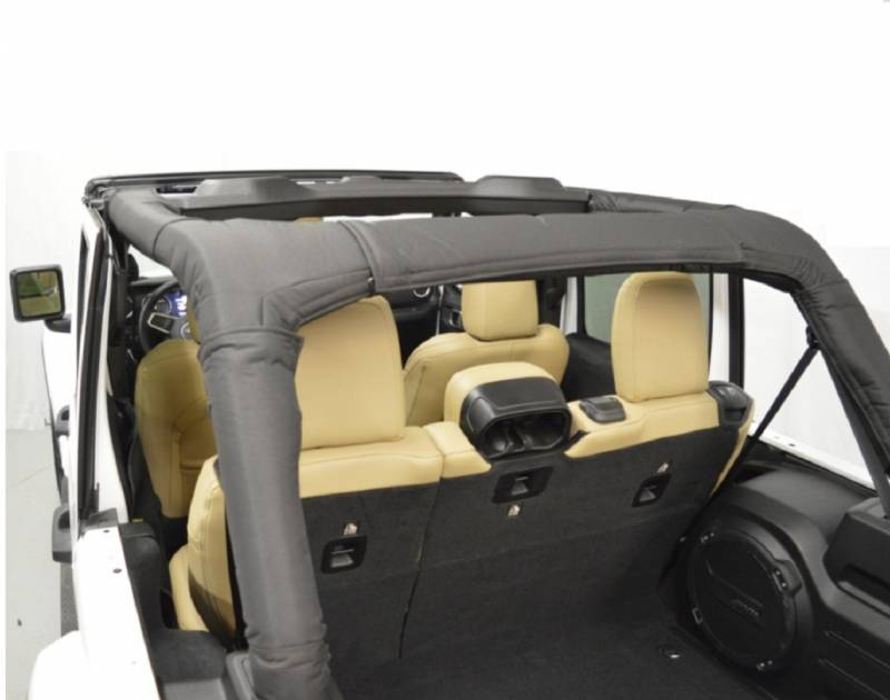 Dirtydog 2018-2020 Jeep Wrangler JL Unlimited Roll Bar Cover Soft Top Fits Hard Tops As Well Recommended For Dual Top Owners Version Black JL4RBCSBK