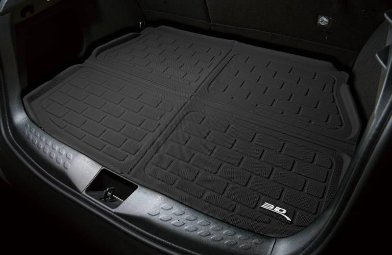 3D MAXpider 2000-2006 BMW X5 E53 With Slide Out Cargo Tray Only Black Kagu Carbon Fiber Embossed Pattern Cargo Liner M1BM0051309