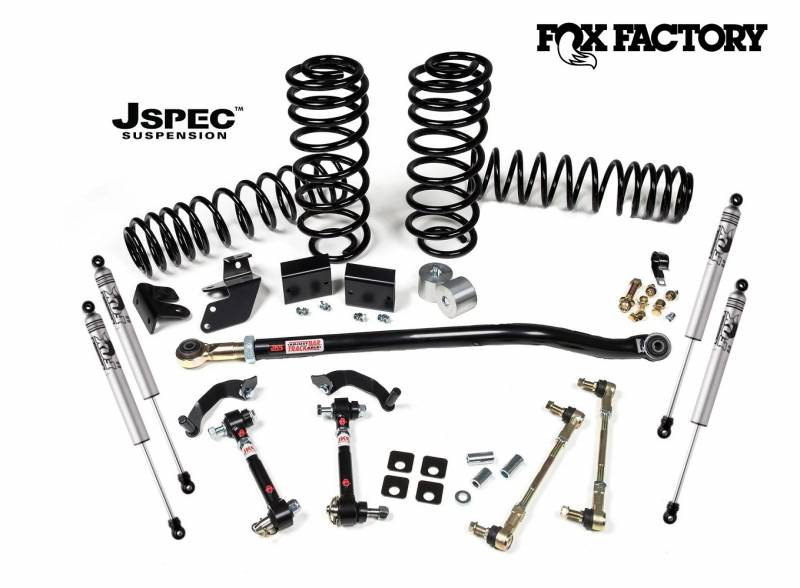 "JKS 2018-2020 Jeep Wrangler JL 4 Door 2.5"" and 2 Door 3'' J-Rated Suspension System With Fox Performance Shocks JSPEC117KFP"