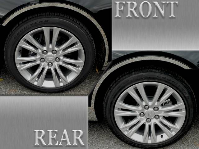 QAA 2018-2020 Cadillac XTS 4 piece Stainless Wheel Well Accent Trim WQ58245