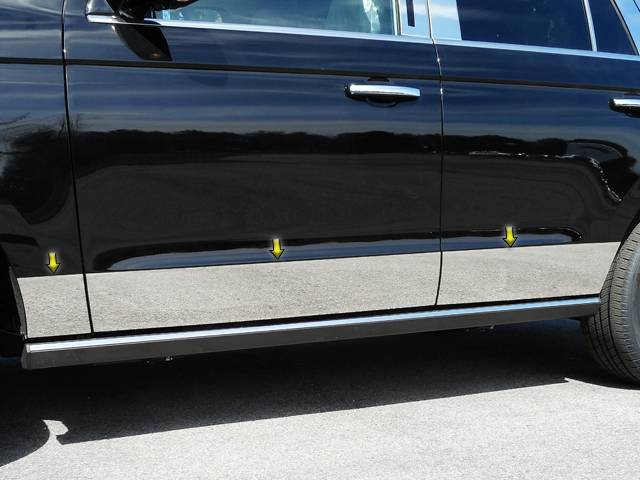 QAA 2018-2020 Ford Expedition 6 piece Stainless Rocker Panel Trim Lower Kit TH58383