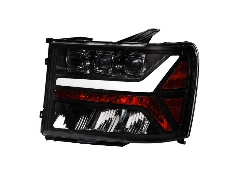 Alpha Owls 2007-2013 GMC Sierra 1500 2007-2014 2500 3500 Tri-Pro LED Projectors Black 7180406