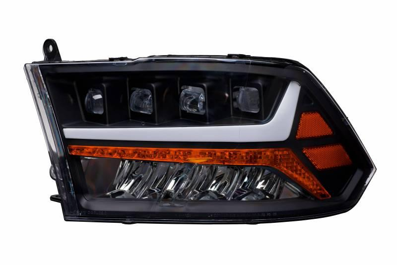 Alpha Owls 2009-2018 Dodge Ram 1500 2010-2019 2500 3500 Quad-Pro LED Projectors Black 7180093