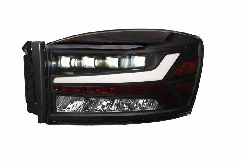 Alpha Owls 2006-2008 Dodge Ram 1500 2006-2009 2500 3500 Quad-Pro LED Projectors Black 7180123