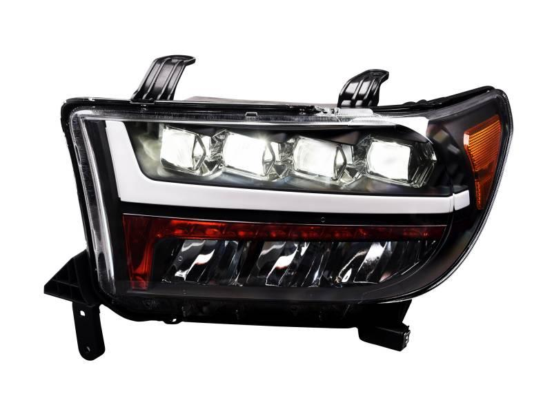 Alpha Owls 2007-2013 Toyota Tundra 2008-2017 Sequoia Quad-Pro LED Headlight Black 7180116