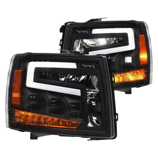 Alpha Owls 2007-2013 Chevrolet Silverado 1500 2007-2014 2500 3500 Tri-Pro LED Projectors Black 7180109