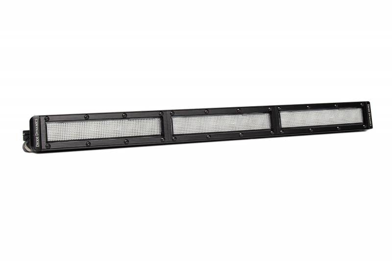 Diode Dynamics 18 Inch LED Light Bar Single Row Straight Clear Flood Each Stage Series Universal DD6034