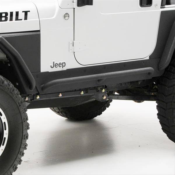 Smittybilt 1997-2006 Jeep Wrangler TJ LJ XRC Rock Sliders With  Step Black Textured 76871