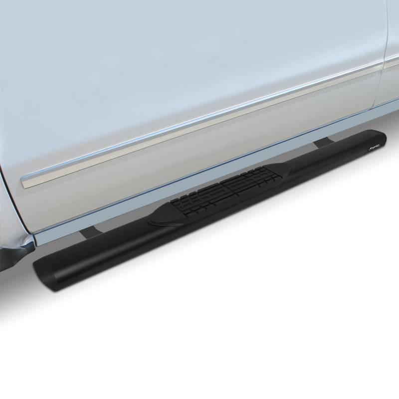 Raptor Series 2005-2020 Toyota Tacoma Extended Cab Access Cab 5 Inch Black Slide Track Oval Running Boards 2004-0367BT