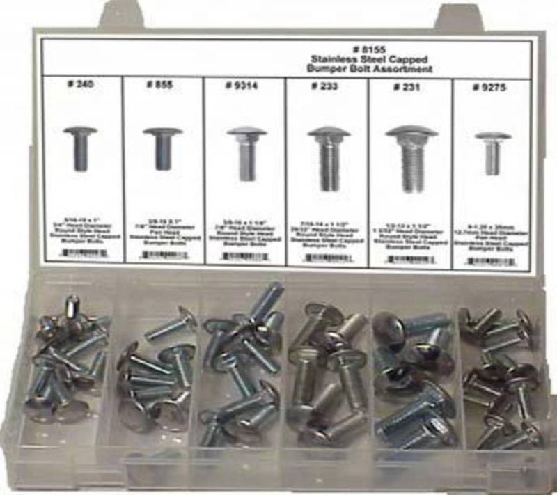 DISCO Stainless Steel Capped Bumper Bolt Assortment 30 pieces 8155