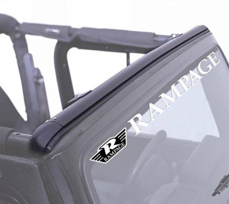 Rampage Windshield Channel Top Attachment Header Bar 901004