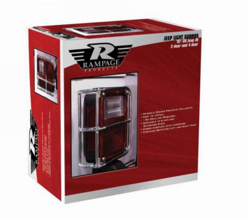 Rampage Taillight Guards Jeep JK Black 88660