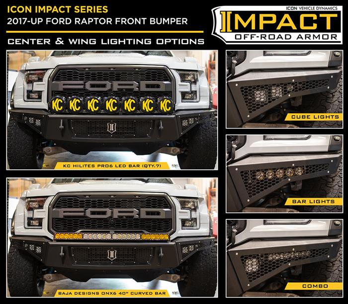 Icon Vehicle Dynamics 2017-2021 Ford Raptor Front Impact Bumper 95150