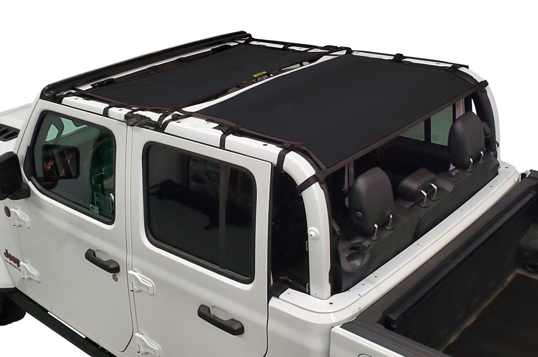 Dirtydog 2019-2020 Jeep Gladiator JT Sun Screen Front and rear 4 door Black JT4S19F2BK