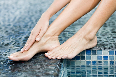 Healthy, glowing hands and feet