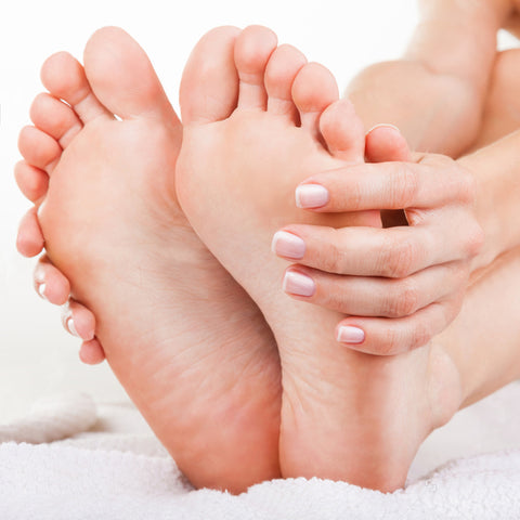 Soft, smooth skin on feet after doing a paraffin wax treatment.