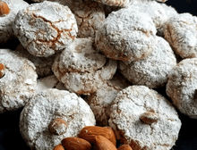 Load image into Gallery viewer, Gluten free and dairy free amaretti biscuits handmade in Sydney perfect gift for friends family colleagues sweet Italian treats
