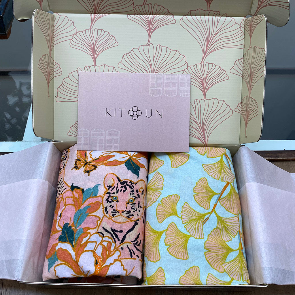 Crib Sheets Duo - Easy Tiger + Kitun Bloom