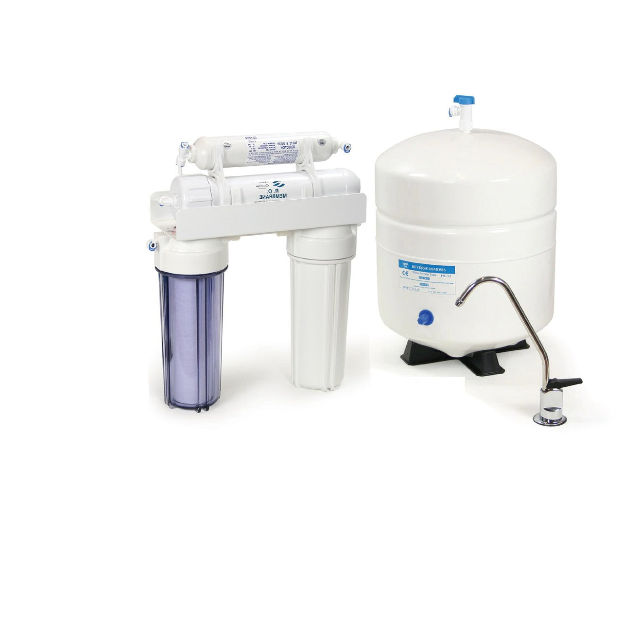 4-Stage Reverse Osmosis System - 4-Stage 50 GPD Reverse Osmosis System / Chrome