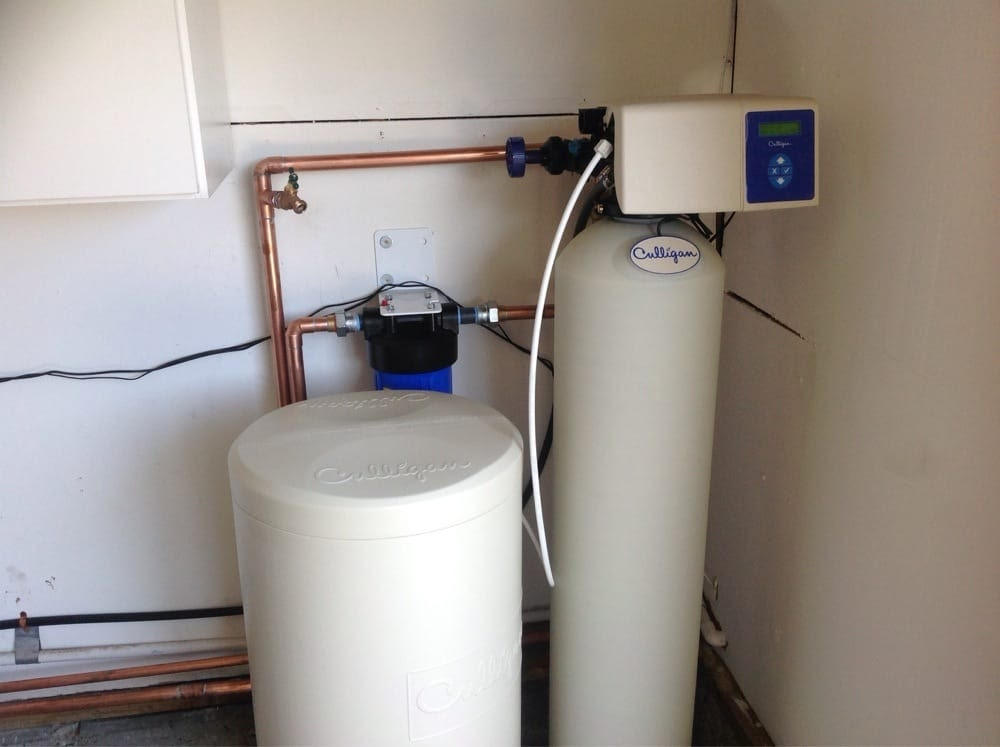 installation of a  culligan  water softener