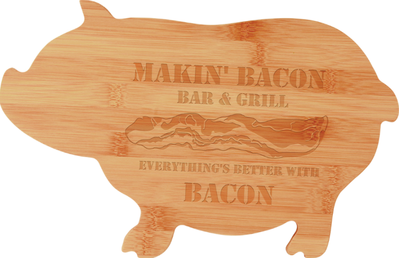 Personalized Pig Shaped Cutting Board