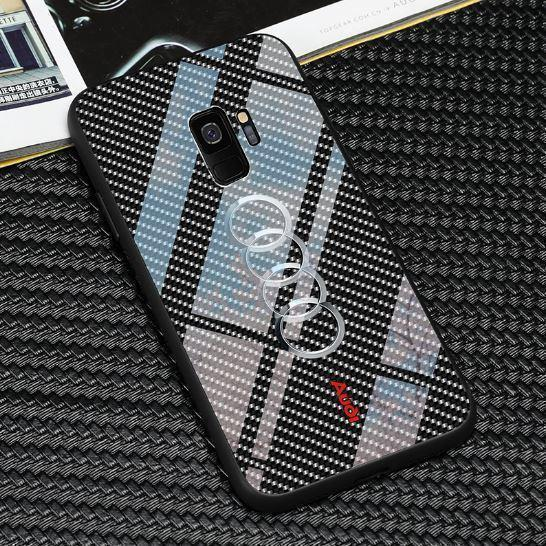 Luxury FourRings Carbon Fibre Style Phone Case