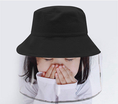 Multi-functional Bucket Hat Mask Dust Cover Full Face Cap For Girls Boys