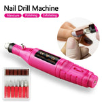1 Set 20000 RPM Professional Electric Nail Drill Machine Nail Art Pen Pedicure Tools Milling Gel Polish Remover Manicure Cutters