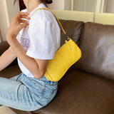 Women Vintage Split PU Leather Bags Retro Crocodile Pattern Shoulder Bag Casual Solid Ladies Small Messenger Handbag Female Gift