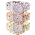 Fashion Watch Women Luxury  Round Quartz Watch Wrist Watches for Women Shiny Gold Sliver Watches  Wrist Watch For Ladies Gift