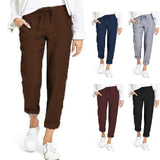 New Cotton Linen Pants Women Trousers Loose Casual Solid Color Women's Harem Pants Female Capris Summer Autumn Pants Hot Brand