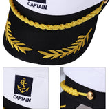 Adult Yacht Military Hats Boat Skipper Ship Sailor Captain Costume Hat adjustable Cap Navy Marine Admiral for Men Women