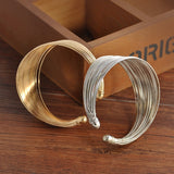 New Women multilayer Open Wide Style Cuff Bracelet Bangle Jewelry Women statement jewelry indian bangles christmas jewelry