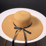 Bow Straw Hat Outdoors Sunscreen Will Eaves Sun Hat