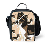 FORUDESIGNS Doberman Printed Lunch Bag Ladies Portable Insulated Bags Dalmattan Polyester Lunch Box Picnic Bag Tote Shoulder Bag