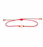 VEKNO Gold Crown Star Cat Charm Heart Paired bracelets Adjustable Rope Red String Couple Bracelets Relationship Family Gifts