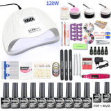Nail dryer UV LED Lamp  & Gel nail polish & Nail Drill Set Kit 💅