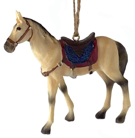 Saddle horse cowboy country western Christmas ornament