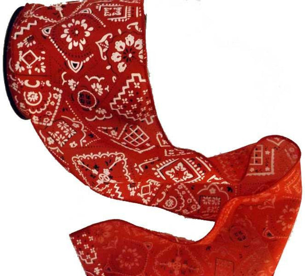 cowboy country western bandana ribbon for Christmas or craftsfrom North Pole West