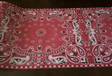 cowboy country western red bandana table runner for parties