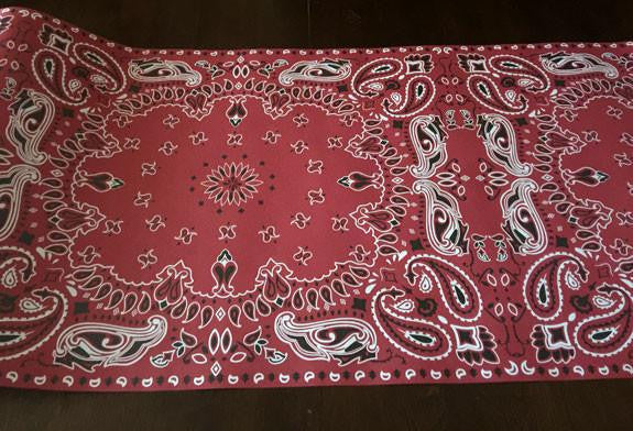 cowboy country western red bandana table runner for cowboy Christmas parties,western weddings and bbq