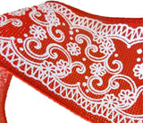 "Cowboy Western Bandana Ribbon -""Two Step"" - North Pole West Cowboy Christmas"