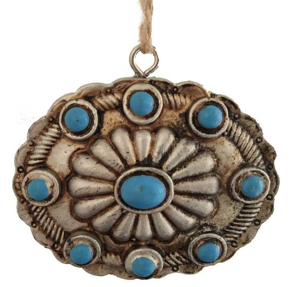 Southwestern Concho Buckle Ornament -Oval
