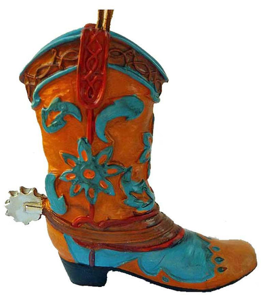 Cowboy Boot Ornament- Painted Desert Wildflowers - North Pole West Cowboy Christmas Store - 1