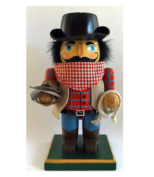 Cowboy Nutcracker with Stick Pony - Saddle Up Sam - North Pole West Cowboy Christmas