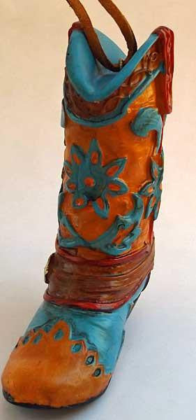 Cowboy Boot Ornament- Painted Desert Wildflowers - North Pole West Cowboy Christmas Store - 2