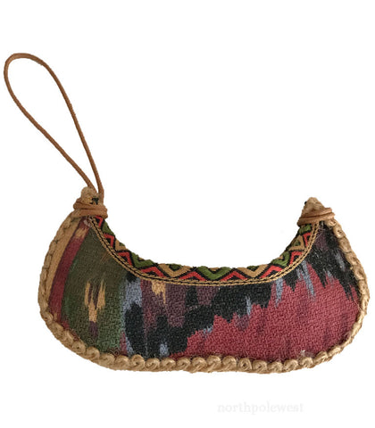 Cute Fabric Canoe Christmas Ornament - Small Business Saturday Cyber Monday Sale