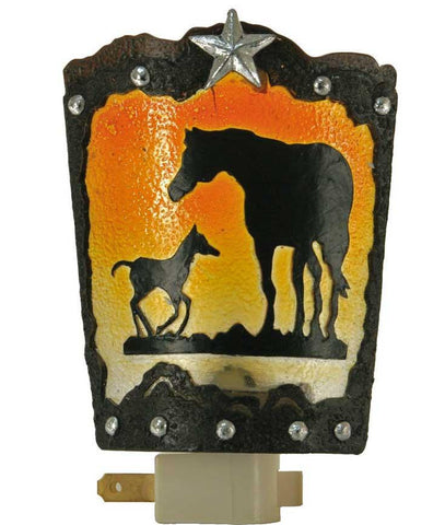 Western Night Light - Horse & Colt