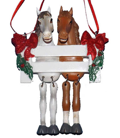 Horse Couple Ornament - North Pole West Cowboy Christmas